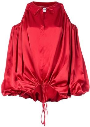 Marques Almeida Marques'Almeida cut-out shoulder blouse