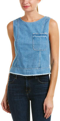 7 For All Mankind Seven 7 Seamed Denim Top