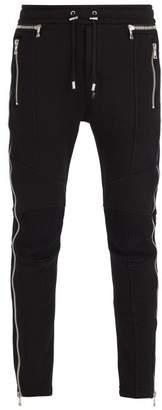 Balmain Side Zip Track Pants - Mens - Black