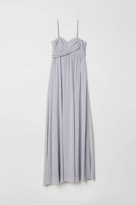 H&M Long Bandeau Dress - Gray