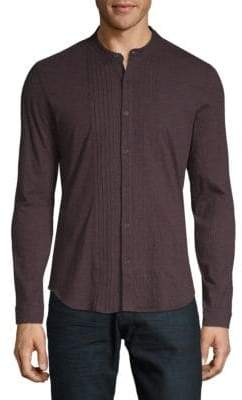 John Varvatos Mockneck Button-Down Shirt
