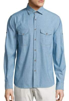 Saks Fifth Avenue COLLECTION Chambray Cotton Shirt