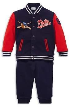 Ralph Lauren Boys' Baseball Jacket & Jogger Pants Set - Baby