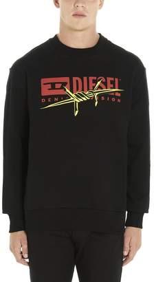 Diesel Logo Print Crew Neck Sweater
