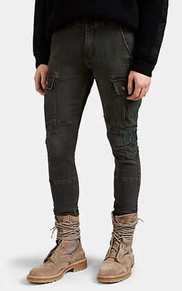 Amiri Men's Appliquéd Denim Slim Cargo Pants - Olive