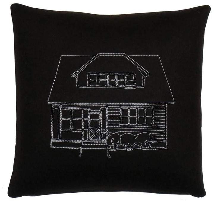 K Studio Bungalow Embroidered Pillow