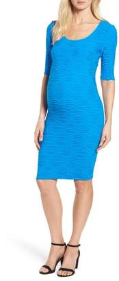 Tees by Tina Monaco Crinkle Maternity Sheath Dress