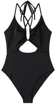 MANGO Cut-out detail swimsuit