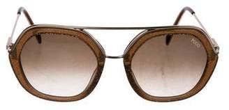 Emilio Pucci Glitter Gradient Sunglasses