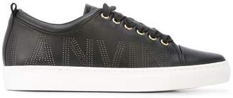 Lanvin perforated logo trainers