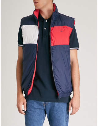 Tommy Jeans Colourblocked reversible shell gilet