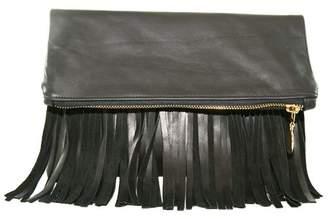 C.Blau Handbags Corby Fringe Foldover Clutch
