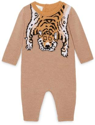 Baby merino sleepsuit with tiger $465 thestylecure.com