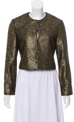 Nili Lotan Cropped Collarless Jacket