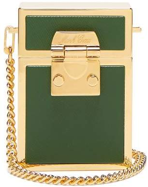 Mark Cross Nicole Leather And Gold Plated Bag - Womens - Dark Green