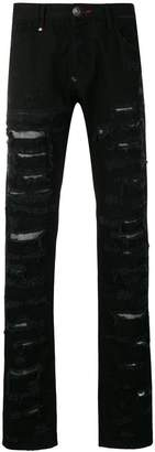 Philipp Plein ripped detailed jeans