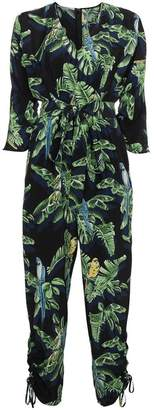 Stella McCartney Silk Parrot Print Jumpsuit