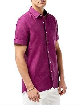 Calibre Ss Linen Shirt