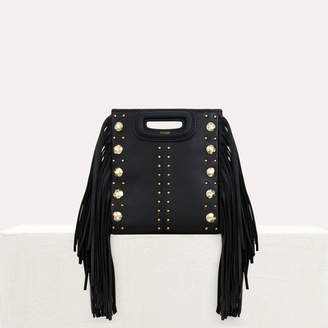 Maje Mini M bag in leather with studs