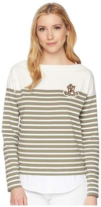 Lauren Ralph Lauren Striped Layered Cotton Sweater Women's Sweater