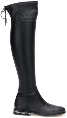 MICHAEL Michael Kors chain trim knee-high boots