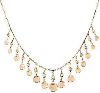 Jacquie Aiche Diamond Hammered Disc Necklace