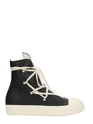 Drkshdw Hexagram Black Cotton Sneakers