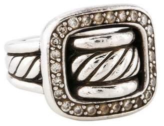 David Yurman Diamond Cable Buckle Ring