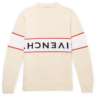 Givenchy Logo-Intarsia Cotton Sweater - Men - Off-white
