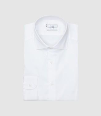 Remote Slim - Slim Fit Small Collar Shirt in White