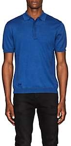 Zadig et Voltaire ZADIG ET VOLTAIRE MEN'S COTTON POLO SHIRT-BLUE SIZE S