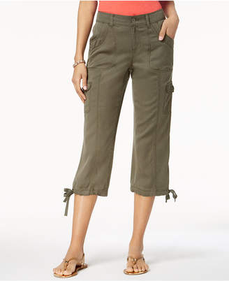 Style&Co. Style & Co Petite Tie-Hem Cargo Capri Pants, Created for Macy's