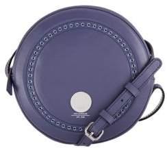 Lodis Juna Circle Studded Leather Crossbody Bag