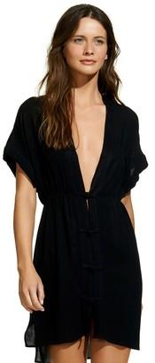 ViX Solid Black Agata Caftan $138 thestylecure.com