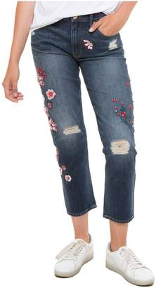 Juicy Couture (ジューシー クチュール) - Floral Embellished Denim Boyfriend Jean
