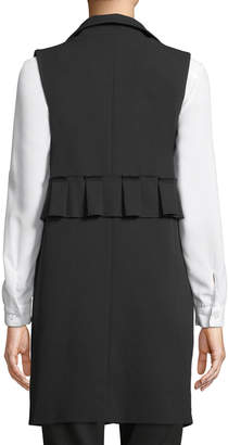 Romeo & Juliet Couture Sleeveless Pearly-Side Long Blazer