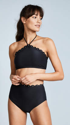 Kate Spade Morro Bay Scalloped High Neck Bikini Top