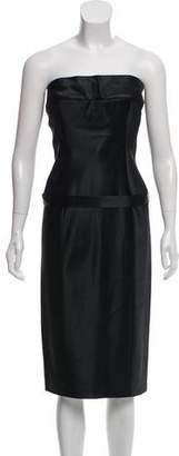 Gucci Strapless Midi Dress