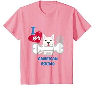 American Eskimo Dog T-Shirt - I Love My American Eskimo Dog