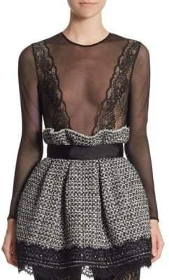 Peserico Mesh Lace Bodysuit