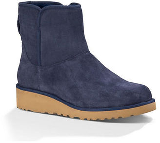 Ugg Kristin Sheepskin Wedge Ankle Boots $150 thestylecure.com