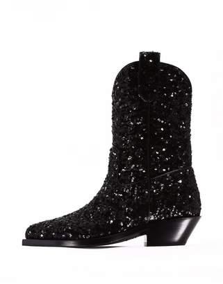 Dolce & Gabbana Gaucho Boot In Sequins