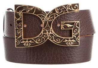 Dolce & Gabbana D&G Leather Buckle Belt