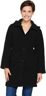 Denim & Co. Fleece Jacket with Sherpa Lining & Detachable Hood
