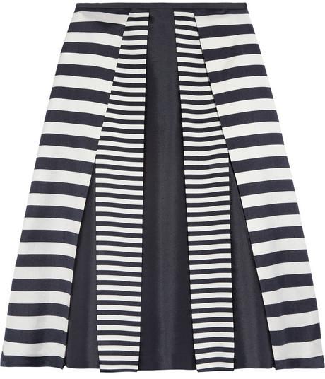 Michael Kors Pleated wool and silk-blend skirt