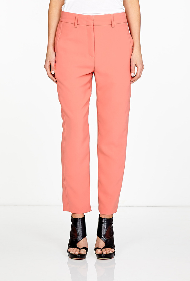 See by Chloe Apricot Relaxed Fit Crepe Trousers