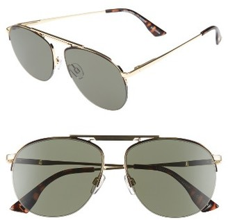 Women's Le Specs Liberation 57Mm Aviator Sunglasses - Dark Gold/ Tortoise $89 thestylecure.com