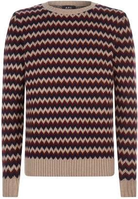 A.P.C. Zig Zag Knit Sweater
