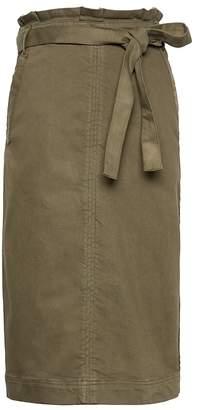 Banana Republic Paper Bag-Waist Denim Pencil Skirt