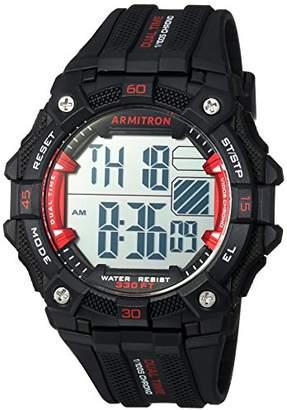 Armitron Sport Men's 40/8403RBK Red Accented Digital Chronograph Black Resin Strap Watch